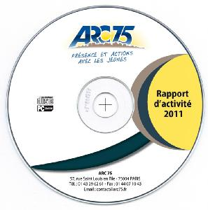 Cd-rom   interactif du rapport d'activit� d'ARC 75